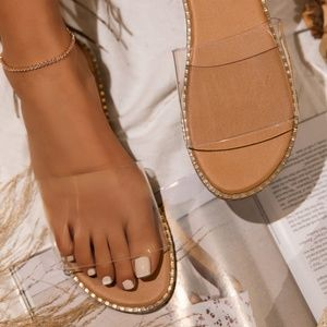 Shoes - Clear  Slide Sandal